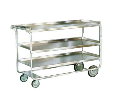"Lakeside 759 Utility Cart w/ (3) 21 x 49"" Shelves & Push Handle, 700-lb Capacity"
