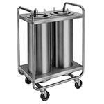 "Lakeside 772 Dish Dispenser w/ 2-Self-Leveling Tubes, 7.5"", Stainless"
