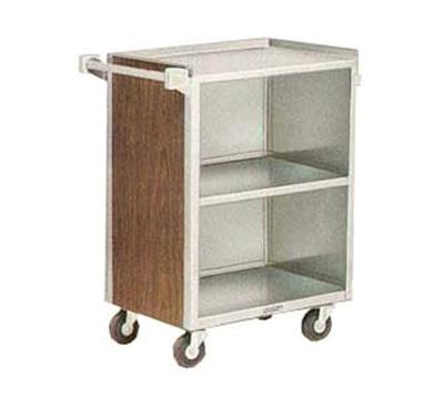"Lakeside 810 BLK 28.25""L Metal Bus Cart w/ (3) Levels, Shelves, Black"