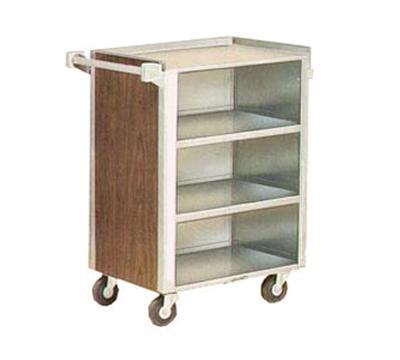 "Lakeside 815 LMAP 28.25""L Metal Bus Cart w/ (4) Levels, Shelves, Maple"