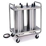 "Lakeside 8207 120 2-Tube Heated Dish Dispenser w/ Self-Leveling, 7.25"" Dish, 120 V"