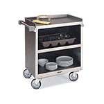 "Lakeside 822 BLK Enclosed Bus Cart w/ (3) 18 x 27"" Shelves, 700-lb, Black"