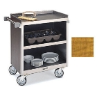 "Lakeside 822 LMAP Enclosed Bus Cart w/ (3) 18 x 27"" Shelves, 700-lb, Light Maple"