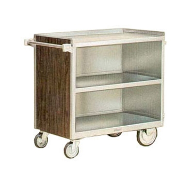 "Lakeside 844 39.31""L Metal Bus Cart w/ (3) Levels, Shelves, Stainless"