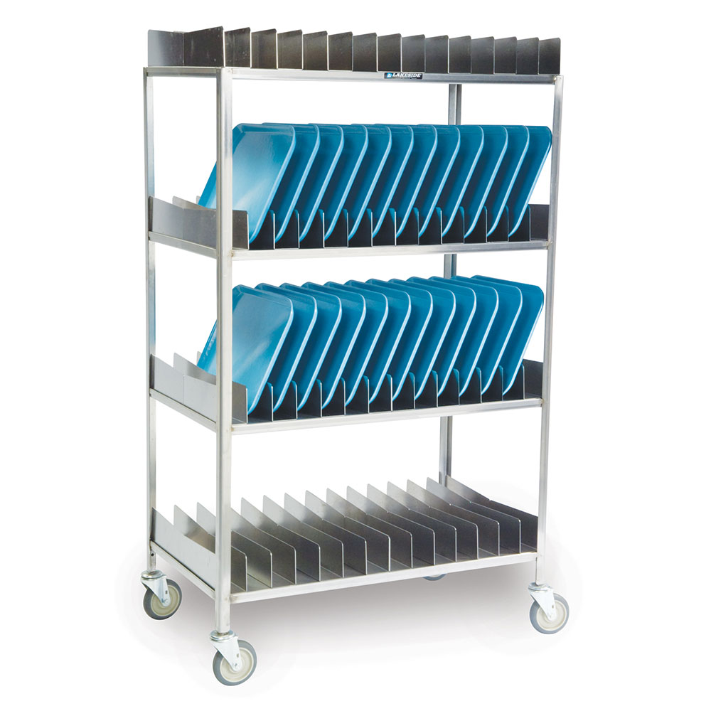 Lakeside 868 4-Shelf Tray Drying Rack w/ Removable Sections, (56) 14 x 18""