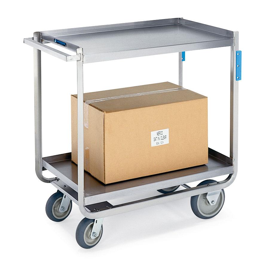 Lakeside 8820 2-Level Stainless Utility Cart w/ 1500-lb Capacity, Raised Ledges