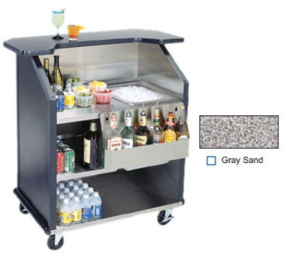 "Lakeside 884 GRSAN 43"" Portable Bar w/ 40-lb Ice Bin & Drain, Speed Rail, Gray Sand"