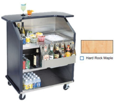 Lakeside 884 HRMAP 43-in Portable Bar w/ 40-lb Ice Bin & Speed Rail, Hard Rock Maple
