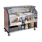 "Lakeside 886 RMAP 63.5"" Portable Bar w/ (2) 40-lb Ice Bin, Speed Rail, Red Maple"
