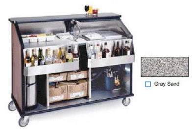 "Lakeside 889 GRSAN 63.5"" Portable Bar w/ 70-lb Ice Bin, Speed Rail, Gray Sand"