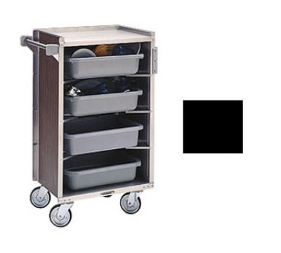 Lakeside 890 BLK Enclosed Bus Cart w/ (4) 16 x 22-in Shelves, 500-lb, Black