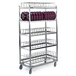 "Lakeside 898 5-Shelf Dome Drying Rack w/ (100) 9"" Dome Capacity, Stainless"