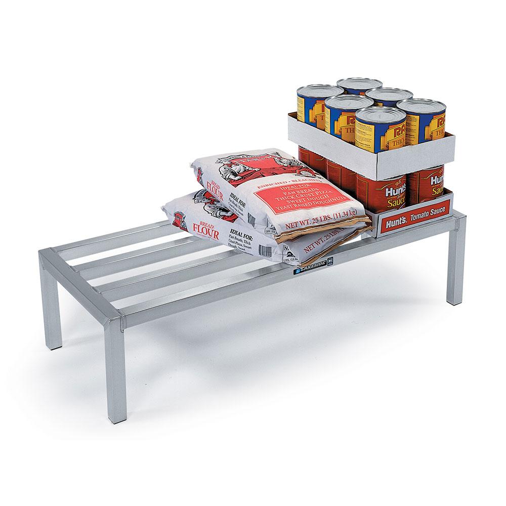"Lakeside 9081 48"" Stationary Dunnage Rack w/ 2000-lb Capacity, Aluminum"