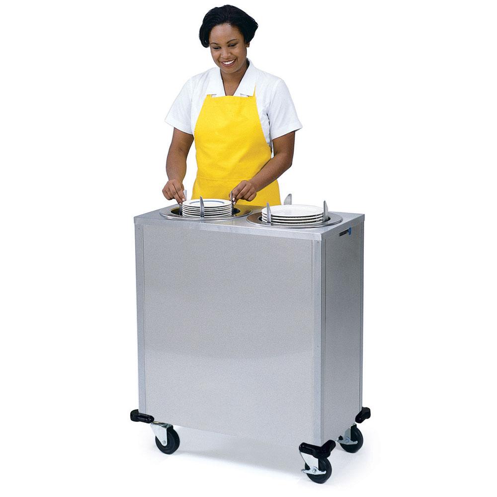"Lakeside 925 9.75"" Mobile Dish Dispenser Cabinet w/ 2-Self-Leveling Tubes"