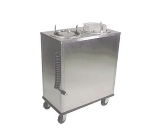 Lakeside 927 9.75-in Mobile Heated Dish Dispenser w/ Enclosed Base, Stainless