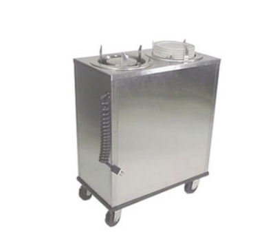 "Lakeside 927 9.75"" Mobile Heated Dish Dispenser w/ Enclosed Base, Stainless"