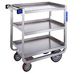 Lakeside 939 3-Level Stainless Utility Cart w/ 1000-lb Capacity, Raised Ledges