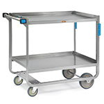 Lakeside 947 2-Level Stainless Utility Cart w/ 1000-lb Capacity, Raised Ledges