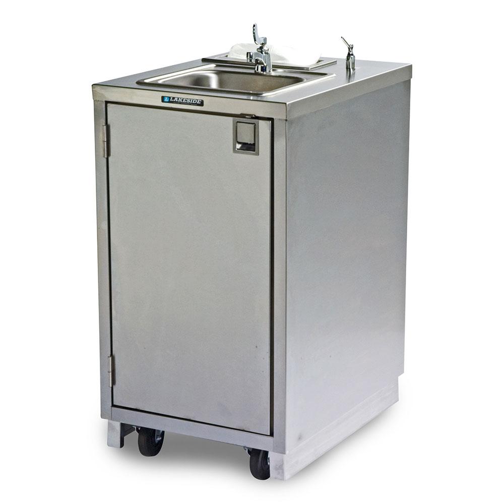 """Lakeside 9620 43.25""""H Portable Sink w/ 5""""D Bowl, Soap Dispenser"""