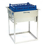 "Lakeside 977 Drop-in Cup Glass Rack Dispenser w/ Self-Leveling, (14) 10 x 20"" Trays"