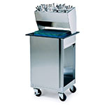 Lakeside 986 Mobile Tray Dispenser Cabinet w/ Flatware Rack