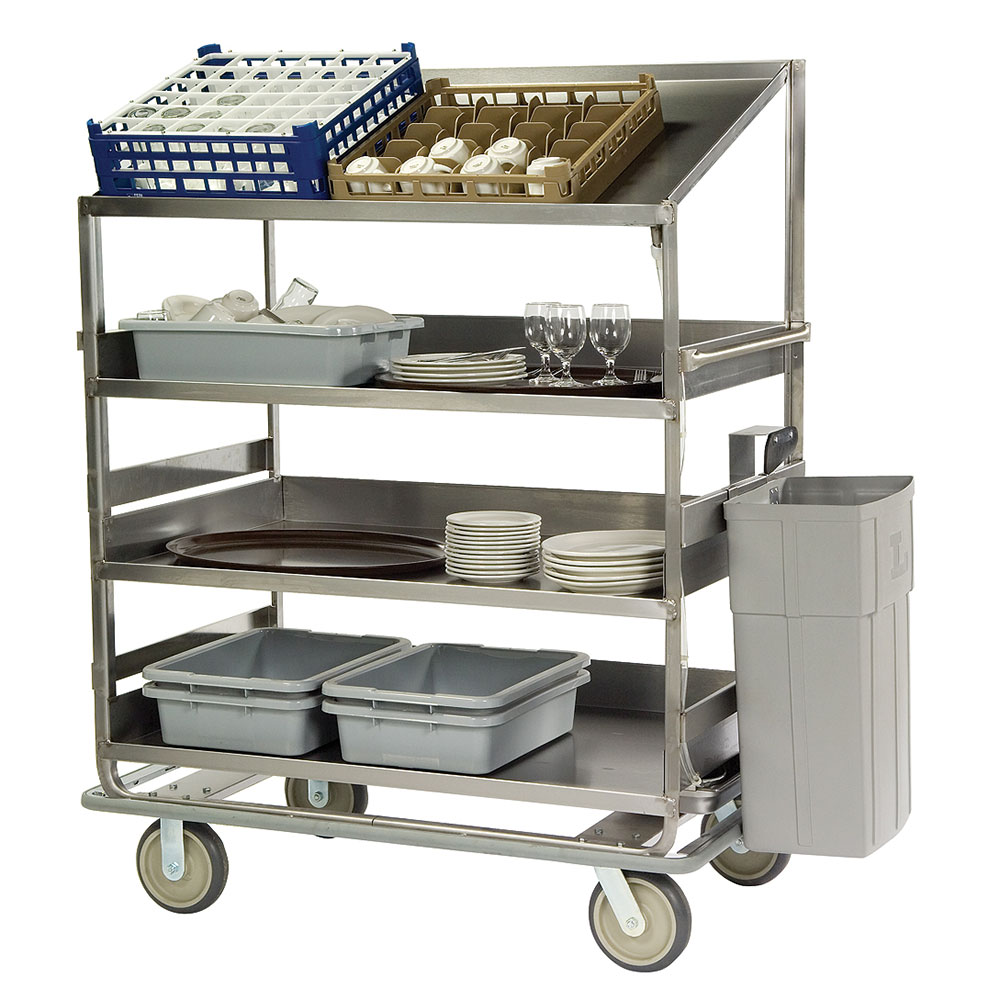 Lakeside B591 Soiled Dish Cart w/ 4-Shelves