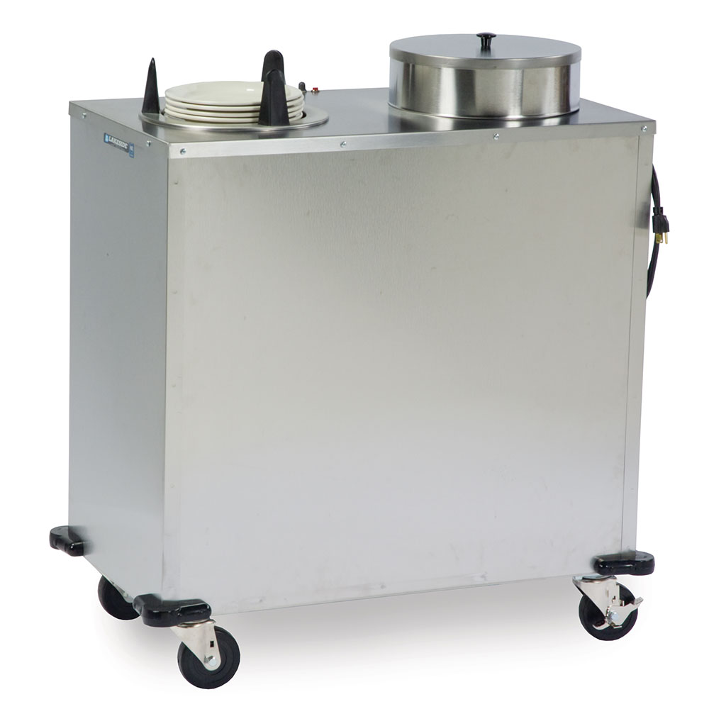 "Lakeside E6209 Mobile Heated Plate Dispenser w/ 2-Tubes, Up To 9-1/8"" Dish"