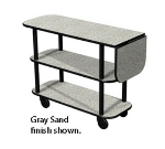 "Lakeside 36102 Rectangular Service Cart w/ 3-Shelves & 10"" Drop Leaf, Casters"