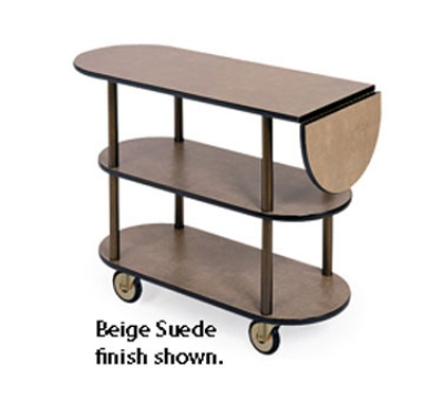 36202 Oval Service Cart w/ 3-Shelves & 10-in Drop Leaf, Casters