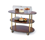 Lakeside 36303 Oval Dessert Cart w/ Domed Design