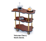 Lakeside 36400 Organic Shape Service Cart w/ 3-Open Shelves & Handle Hole Cutout