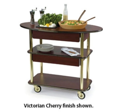 Lakeside 37307 Oval Dessert Cart w/ Multi-Tiered Design