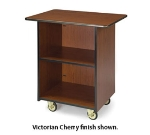 "Lakeside 66100 33.5"" Wood Composite Enclosed Service Cart w/ High Impact Edge"