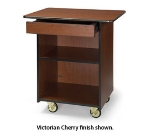 "Lakeside 66107 33.5"" Wood Composite Enclosed Service Cart w/ Shelf, Drawer"