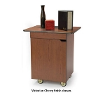 "Lakeside 66112 33.5"" Enclosed Compact Service Cart w/ Drawer, Wood Composite"