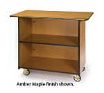 "Lakeside 67100 45.5"" Enclosed Wood Composite Service Cart w/ Fixed Shelf"