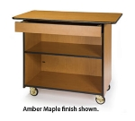 Lakeside 67107 45.5-in Enclosed Wood Composite Service Cart w/ Shelf & Drawer