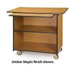 "Lakeside 67109 45.5"" Wood Composite Enclosed Service Cart w/ 2-Shelves"