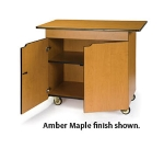 "Lakeside 67112 45.5"" Wood Composite Enclosed Service Cart w/ Drawer & Doors"