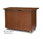 "Lakeside 68105 57.5"" Wood Composite Service Cart w/ Hinged Doors"