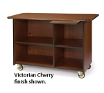 """Lakeside 68112 57.5"""" Wood Composite Service Cart w/ Pull-Out Shelf"""