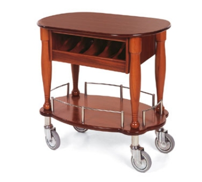Lakeside 70036 Oval Dessert Cart w/ Multi-Tiered Design