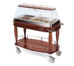 Lakeside 70180 Wood Veneer Hot Meal Cart w/ Acrylic Roll Top Dome
