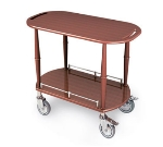 "Lakeside 70524 35.5"" Wood Veneer Oval Serving Cart w/ Single Shelf"