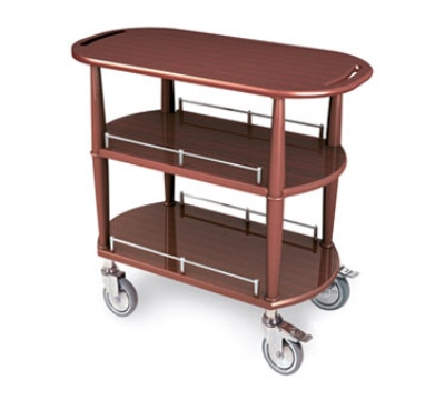 Lakeside 70531 Oval Dessert Cart w/ Multi-Tiered Design
