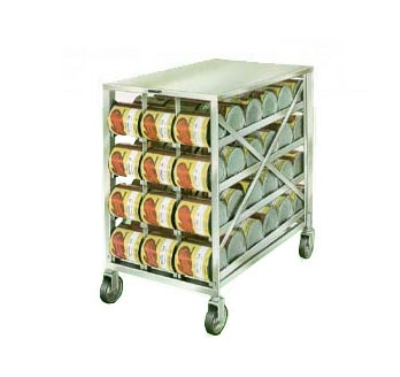 458 Mobile Can Rack w/ (72) #10 or (96) #5 Cans, Stainless