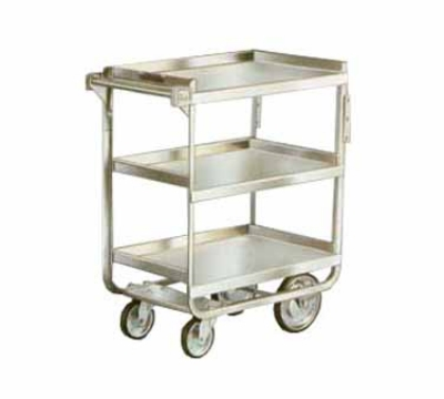 Lakeside 511 3-Level Stainless Utility Cart w/ 700-lb Capacity, Raised Ledges