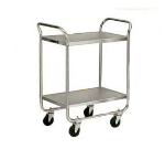 Lakeside 472 2-Level Stainless Utility Cart w/ 500-lb Capacity, Flat Ledges