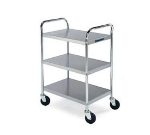 "Lakeside 479 Utility Cart w/ (3) 15.5 x 24"" Shelves, Angle Frame, 500-lb, Chrome"