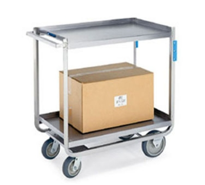 Lakeside 958 2-Level Stainless Utility Cart w/ 1000-lb Capacity, Raised Ledges